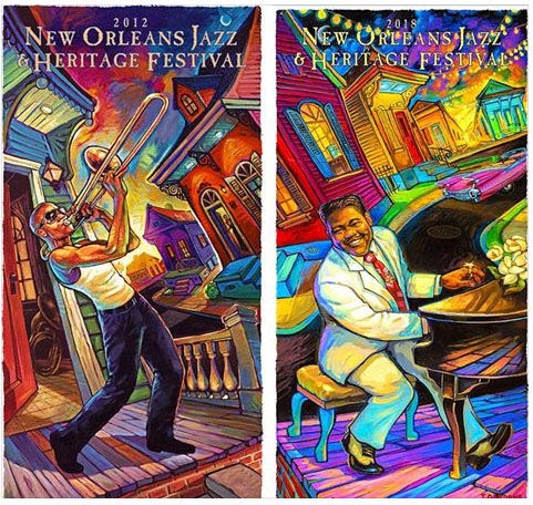Something cool about 2018 New Orleans Jazz Fest poster you might not notice... | Advocate