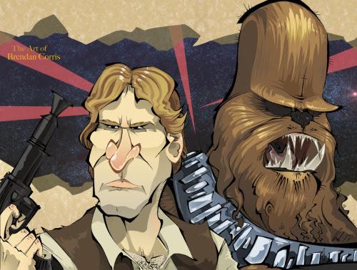 Han & Chewie Created by Brendan Corris