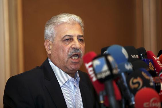 REFILE - CLARIFYING TAGSMosul governor Atheel al-Nujaifi addresses a news conference in Arbil, in Iraq's Kurdistan region June 11, 2014.    REUTERS-Azad Lashkari