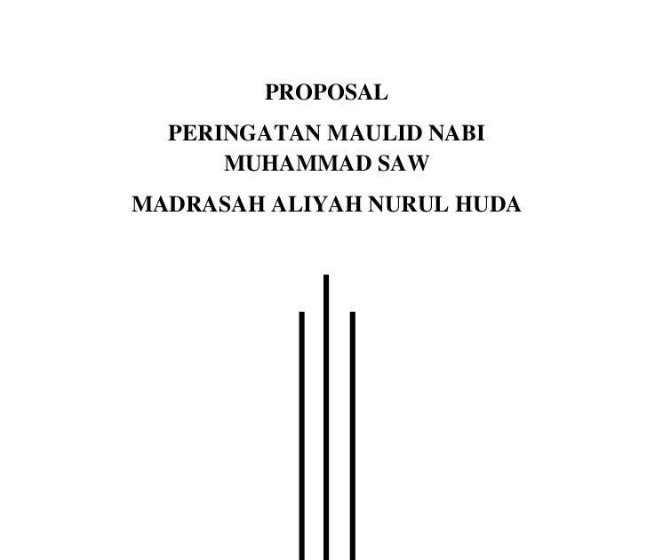 Contoh Cover Proposal Maulid Nabi Muhammad Saw
