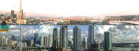 False Creek, Vancouver from the Granville Street Bridge, 1978 and 2003
