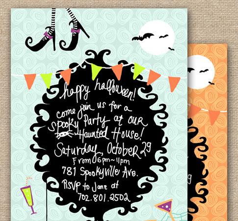 Shop: Happy Halloween Invitation Party Design - DIY Printables