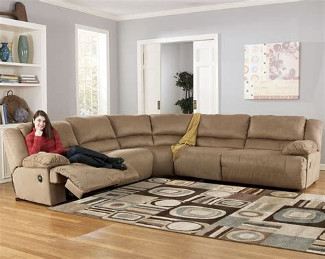 microfiber reclining sectional  ashley furniture store