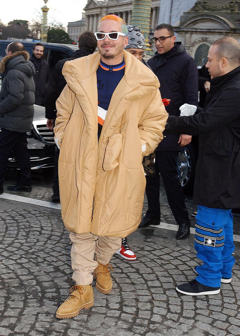 J Balvin attends the iLouisi iVuittoni Menswear iFalli iWinteri