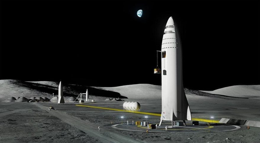 BFR lunar base