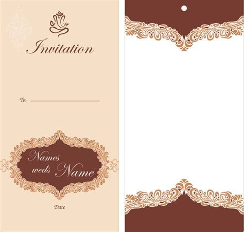 Wedding card design Free vector in Encapsulated PostScript