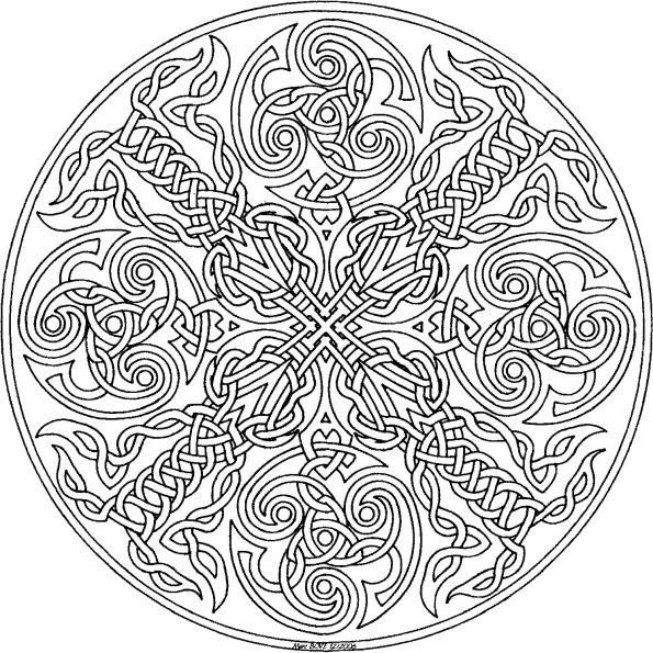 Coloriage Mandala Chat à Imprimer Sur Coloriages Info