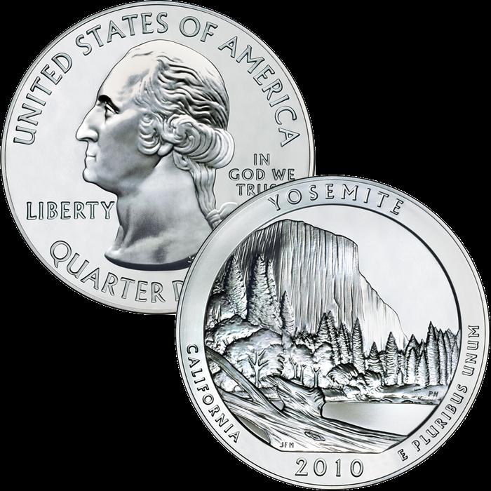 2010 yosemite silver bullion coin