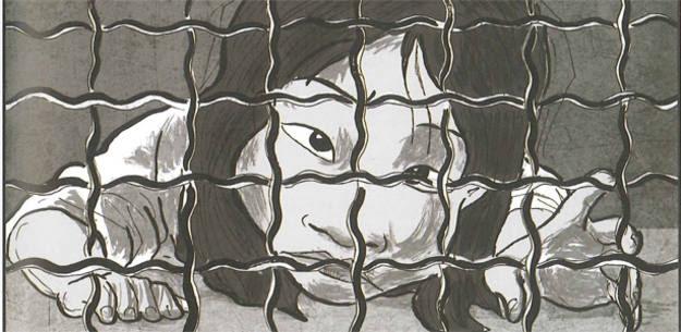 Viñeta de 'Esclavas', de Alicia Palmer y Bosco Rey-Stolle
