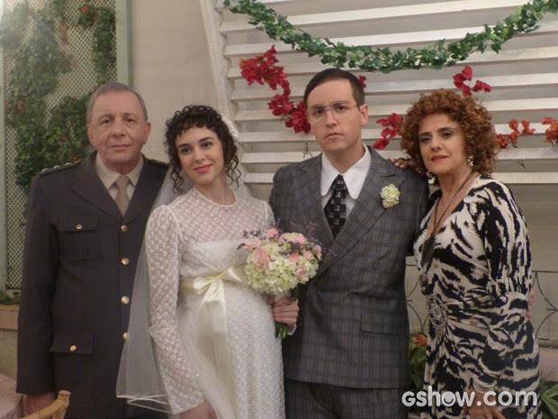 Casamento de Lineu e Nenê (Foto: A Grande Família/ TV Globo)