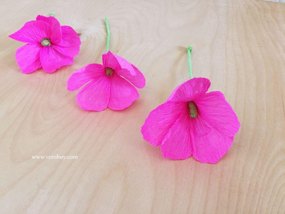 Como Hacer Flores Con Papel Crepé Fácil Y Rápido Vero Hoy