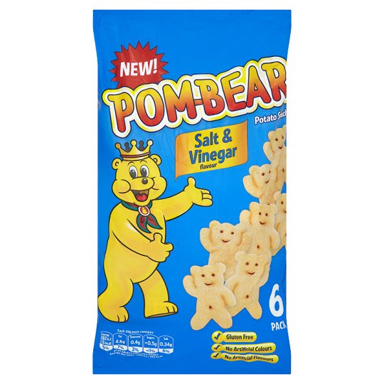 Pom Bear Salt And Vinegar 6X19g