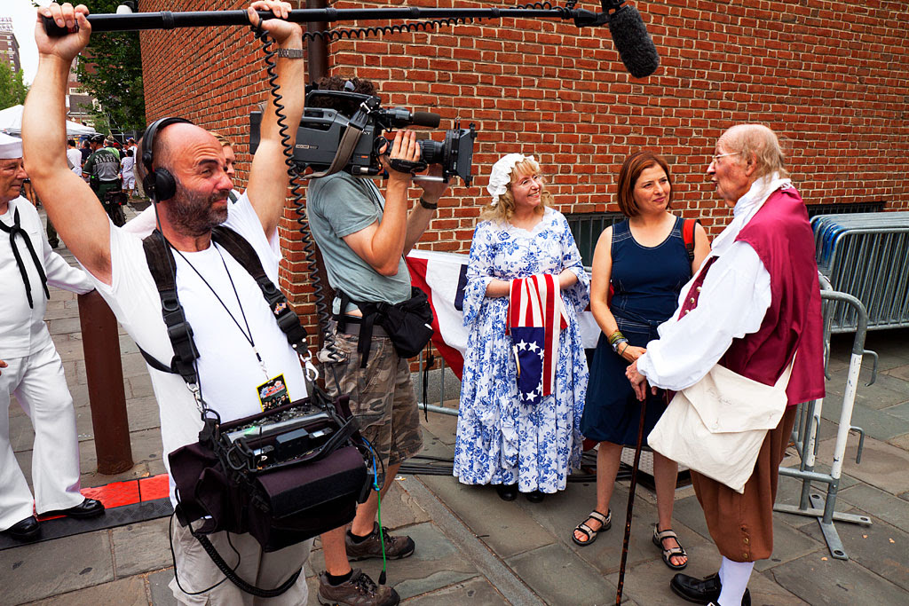 Television-interview-of-fake-Franklin-and-Ross--Olde-City