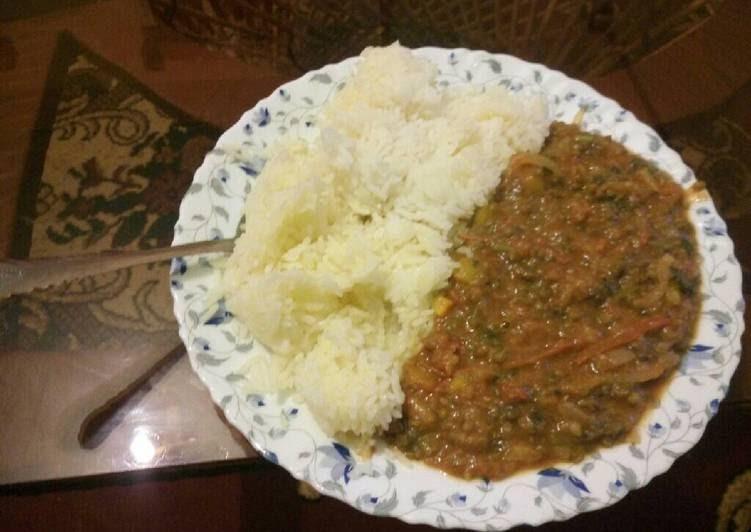 Easiest Way to Prepare Tasty Margarine Rice & Spicy Green ...