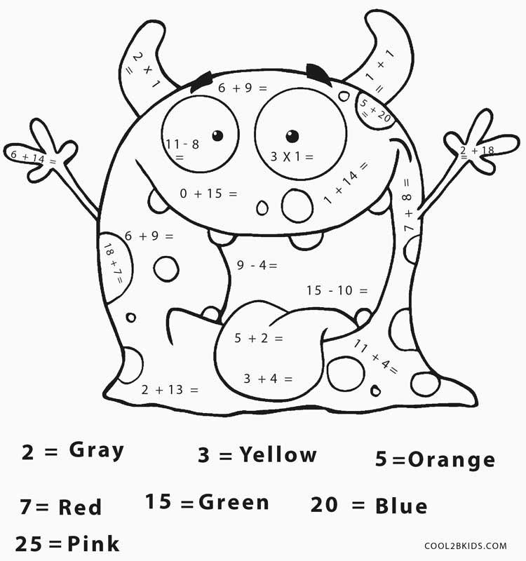 Math Coloring Worksheets Effy Moom