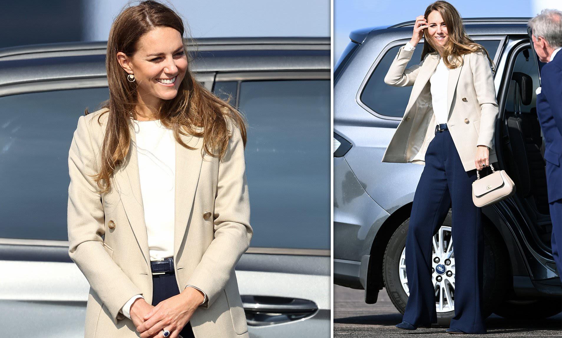 Kate Middleton looks effortlessly stylish in a £285 Reiss blazer