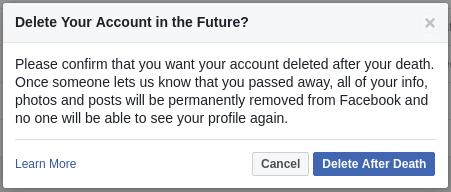 Delete Facebook Account after Death 2