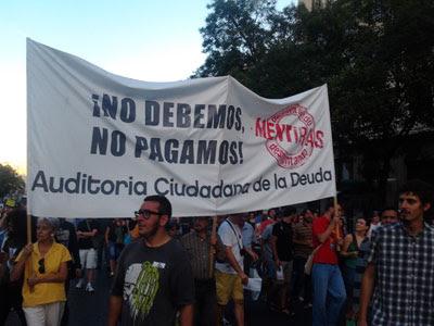 Manifestación 'Desmontando menitiras, construyendo alternativas'.
