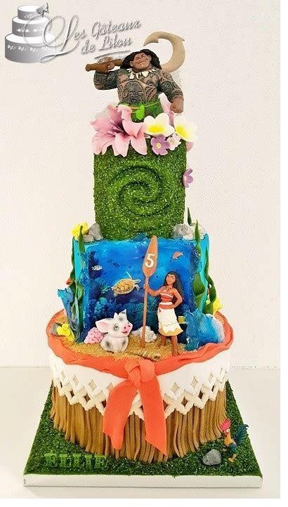 Gâteau Vaiana / Moana Cake   LES GATEAUX DE LILOU Cake Design