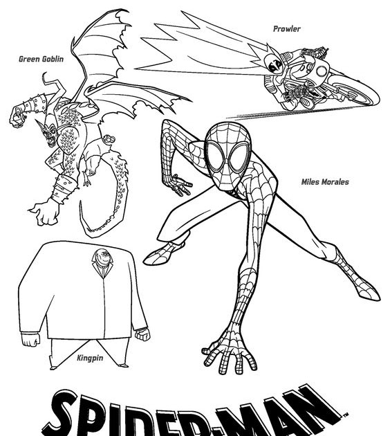 Spiderman Green Goblin Coloring Pages Free ~ Coloring Page