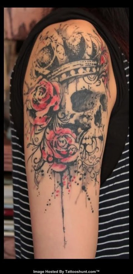 Flower Skull Tattoo And Piercing Flowers Healthy