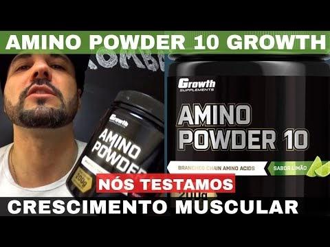 AMINO POWER 10 GROWTH MELHOR CRESCIMENTO MUSCULAR SISTEMA IMUNOLÓGICO E BEM ESTAR
