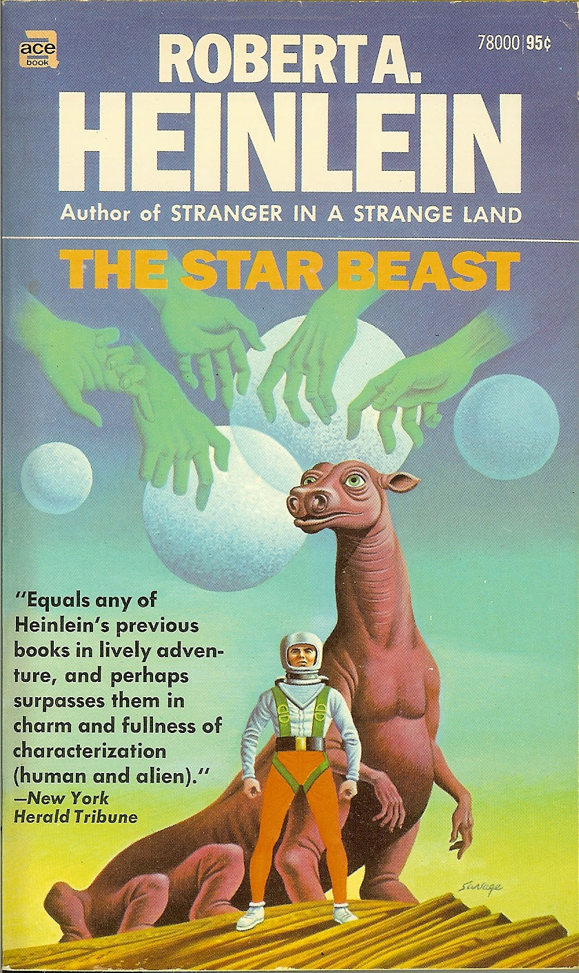 Steele Savage - Cover for Robert A. Heinlein - The Star Beast, 1970