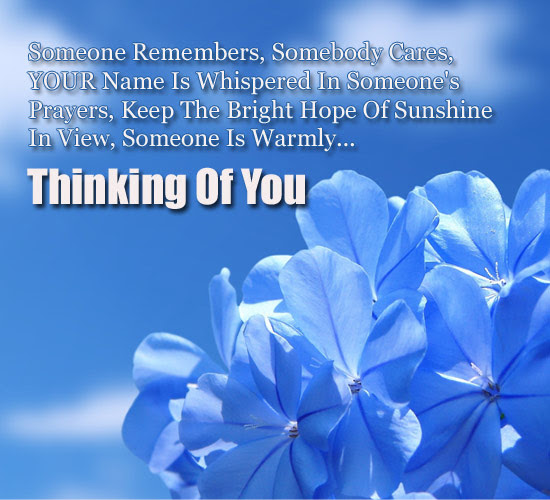 Somebody Cares Free Thinking Of You Ecards Greeting Cards 123
