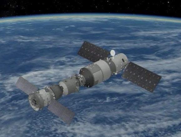Complejo orbital Shenzhou 11-Tiangong 2.