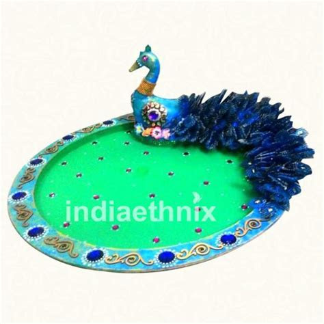 Peacock Design Wedding Premium Tray   Wedding Items