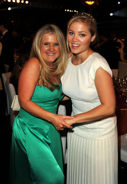 Voice artist Nancy Cartwright and actress Erika Christensen attend The Church of Scientology Celebrity Centre 41st Anniversary Gala held at the Church of Scientology Celebrity Centre on August 7, 2010 in Los Angeles, California.