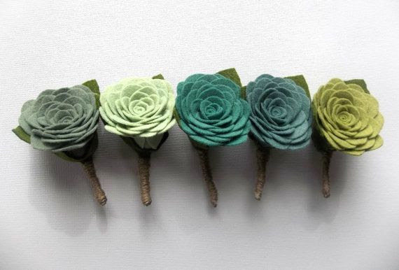 Hand crafted felt rose boutonniere pick by handmadecolectibles