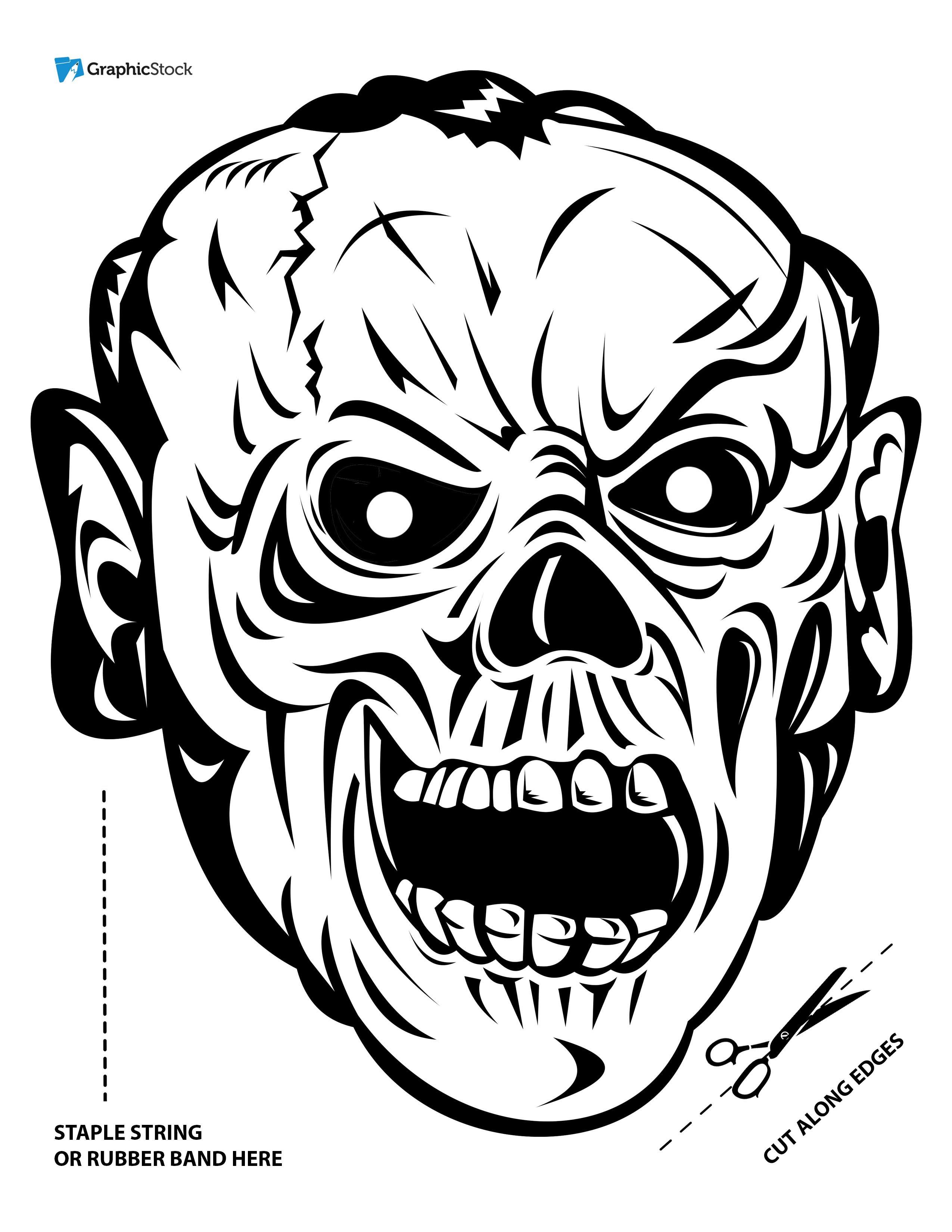 Stock Graphics + Office Supplies = Printable Halloween Masks ...