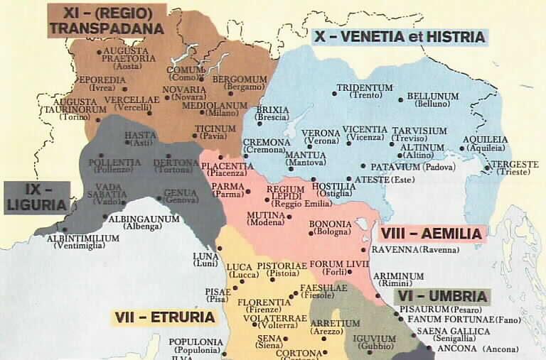 Risultato immagine per regioni augustee