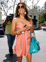 Eva Longoria carrying Coach handbag
