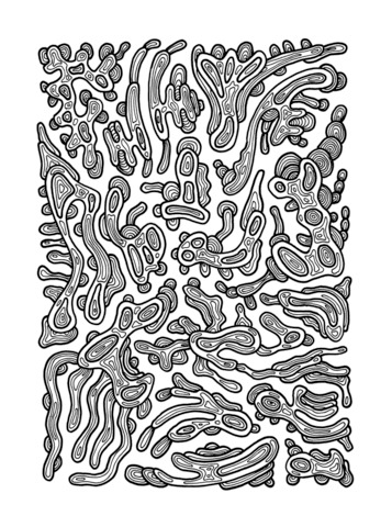 psychedelic pattern coloring page  free printable coloring pages