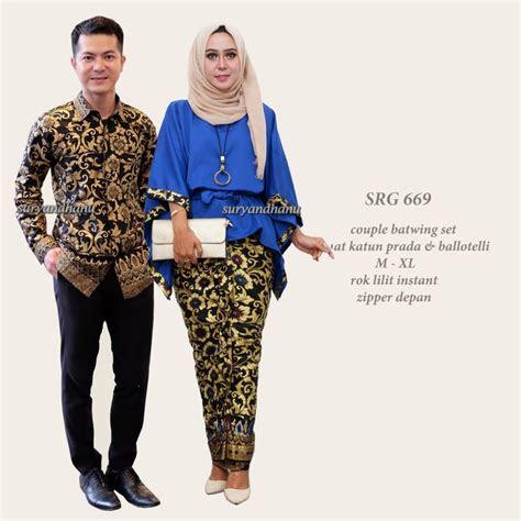 jual kebaya jumbo couple baju batik couple sarimbit