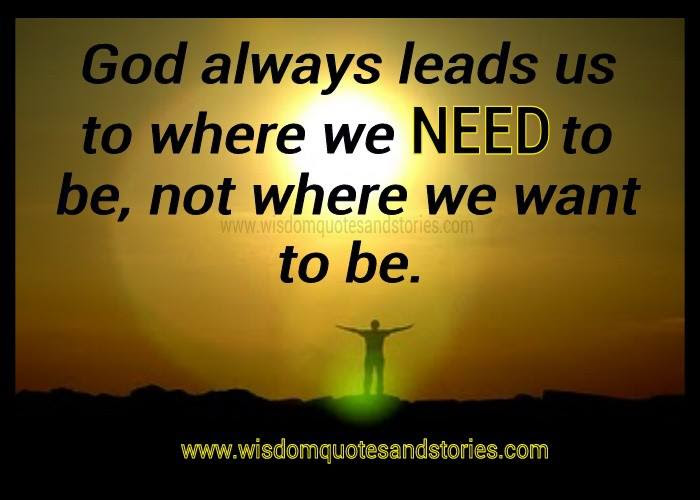 God Always Lead Us Wisdom Quotes Stories