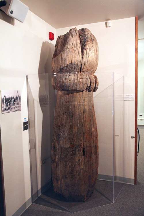 house post from Eagle Leg House, from Old Kasaan, at Totem Heritage Center, Ketchikan, Alaska