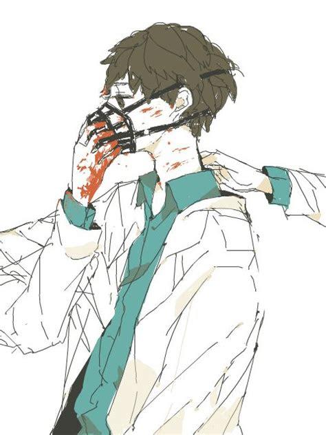 bloody anime boy guro gore anime dark anime anime art