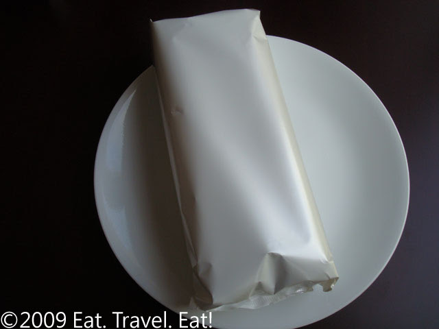 Trader Joes Packaging of Chocolate Cloud Cake