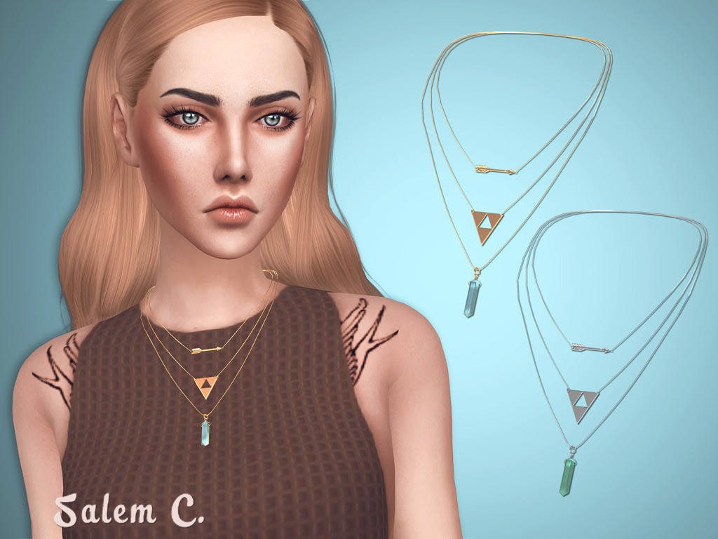 Arrow Necklace (TS4)• 3 swatches • mesh by me DOWNLOAD (DropBox) DOWNLOAD (SFS)