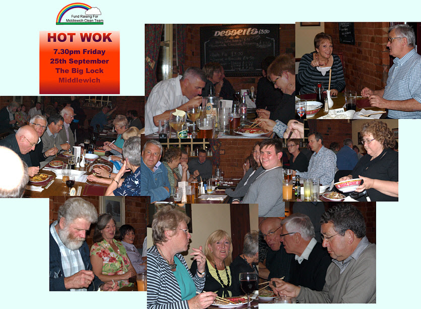 Hot Wok Evening 2009. A very successful Clean Team fund raising evening.