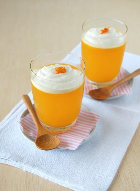 Orange lime jelly / Gelatina de laranja e limão