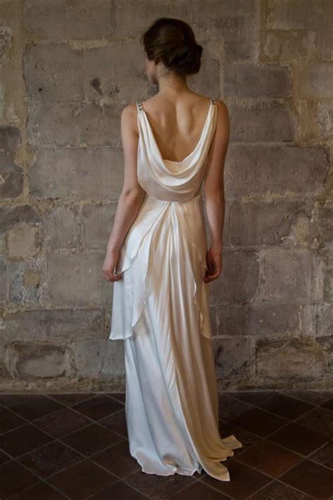 Silk Wedding Dress/ Great Gatsby Wedding Dress/ Low Back V