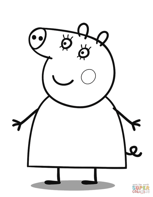 Dibujo De Mamá Pig Para Colorear Dibujos Para Colorear Imprimir Gratis