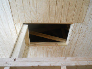 Open Attic Access Door