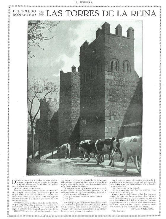 Artículo  de Santiago Camarasa sobre las Torres de la Reina en la revista La Esfera en 1922