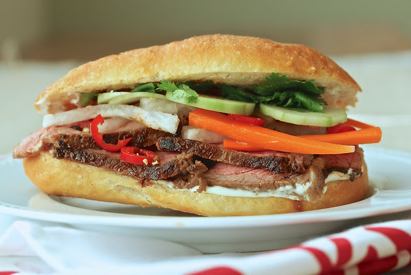 Maggi Steak Banh Mi with Daikon and Carrot Pickle from Karen's Kitchen Stories