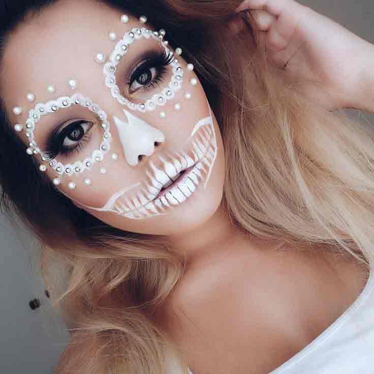 Halloween makeup easy for girls